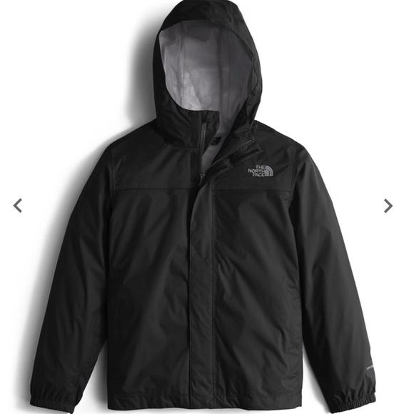 ce67938b6377 North Face Zipline Boys Black rain jacket. M 5c3cffde035cf1e4b9ea2301